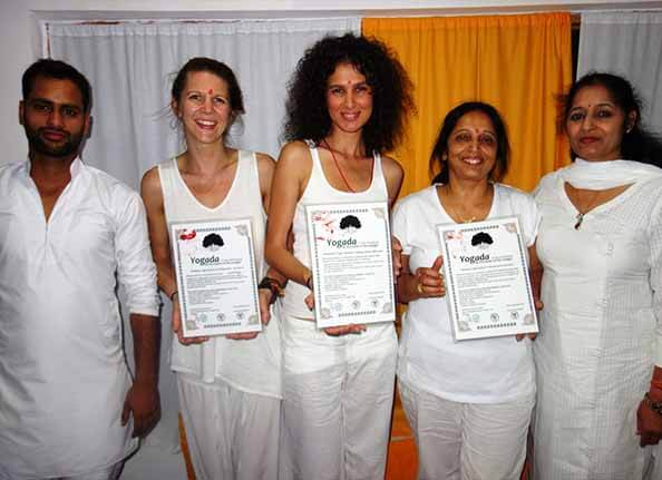 yogada school certificate ceremony in Rishikesh